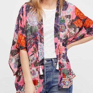 Free People Enchanted Blooms Printed Kimono